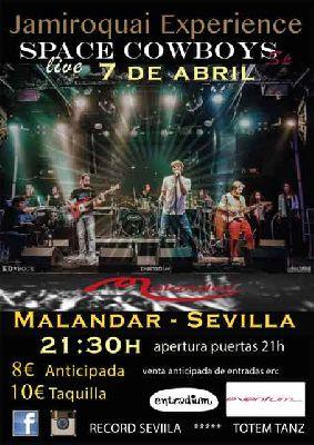 Concierto: Space Cowboys (Jamiroquai Experience) en Malandar Sevilla