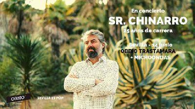 Cartel del concierto de Sr. Chinarro en la sala Obbio de Sevilla