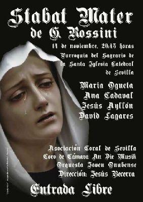Concierto: Stabat Mater de Rossini en iglesia del Sagrario Sevilla
