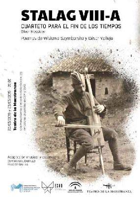 Cartel del recital Stalag VIII-A en el Teatro de la Maestranza de Sevilla