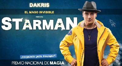Foto promocional del espectáculo StarMan del mago Dakris
