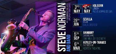 Cartel de la gira Pop Up Tour 2019 de Steve Norman de Spandau Ballet