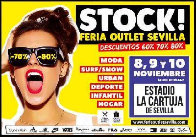 Cartel de Stock! Feria Outlet Sevilla 2019