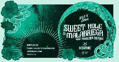 Cartel del concierto de Sweet Hole y Malabriega en la Sala X de Sevilla 2019