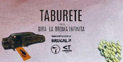 Cartel de la gira La broma infinita del grupo Taburete