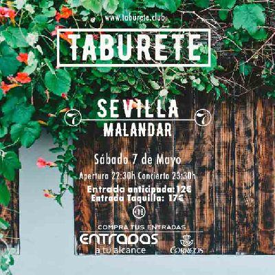 Concierto taburete en malandar sevilla onsevilla for Entradas concierto taburete