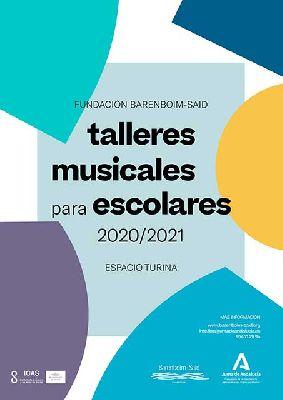 Cartel de los talleres musicales infantiles de Barenboim-Said 2020-21 en el Espacio Turina de Sevilla