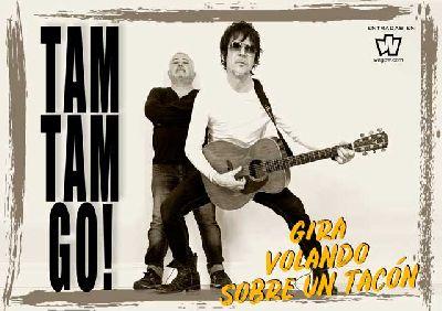 Cartel de la gira Volando sobre un tacón de Tam Tam Go!