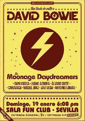 Cartel del concierto Una tarde de culto a David Bowie en FunClub Sevilla 2020
