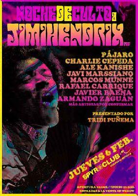 Cartel del concierto de Una tarde de culto a Jimi Hendrix en Malandar Sevilla 2020