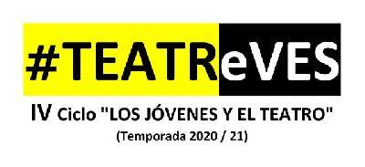 Cartel del ciclo TEATReVES Los jóvenes y el teatro en Sevilla (2020-2021)