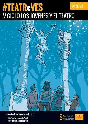 Cartel del ciclo TEATReVES Los jóvenes y el teatro en Sevilla (2021-2022)