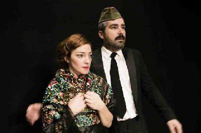 Foto promocional de Alicia Moruno y José Chía en la obra ¡Ay, Carmela!