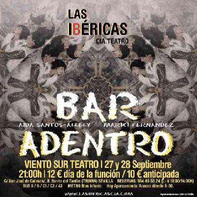 Cartel de la obra de teatro Bar adentro de la Compañía Las Ibéricas