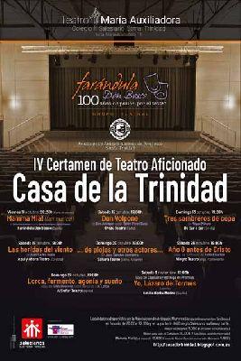 Cartel del Certamen de Teatro Aficionado Casa de la Trinidad en Sevilla 2019