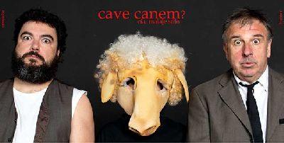 Imagen promocional de la obra de teatro Cave Canem?