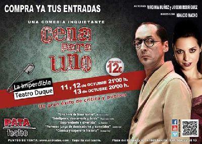 Teatro: Cena para uno en La Imperdible de Sevilla