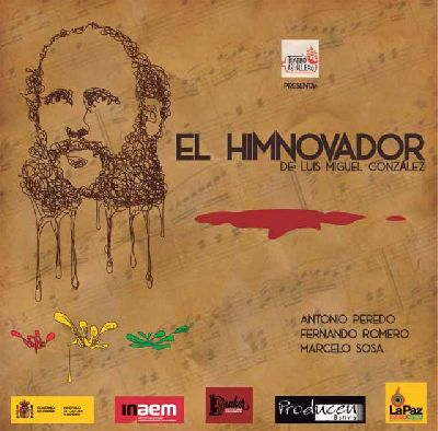 Imagen promocional de la obra de teatro El himnovador