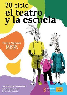 Cartel del ciclo El teatro y la escuela en Sevilla (2018-2019)