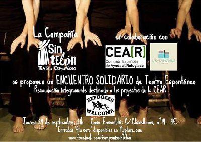 Teatro espontáneo solidario en La Casa Ensamblá de Sevilla