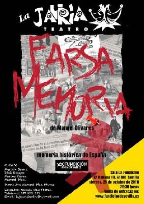 Cartel de la función de Farsa memoria (octubre 2019)