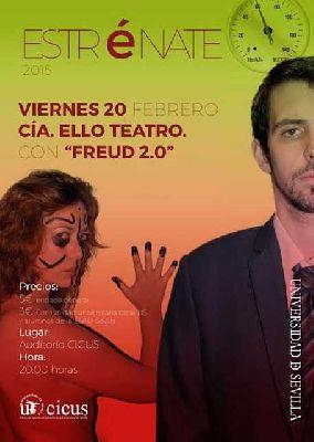 Teatro: Freud 2.0 en el ciclo Estrénate del CICUS de Sevilla