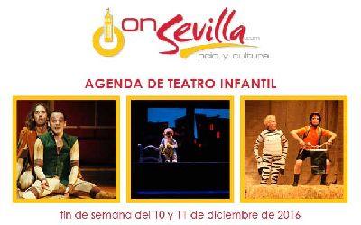 Teatro infantil en Sevilla fin de semana del 10 y 11 de diciembre 2016