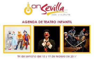 Teatro infantil en Sevilla fin de semana del 18 y 19 de febrero 2017
