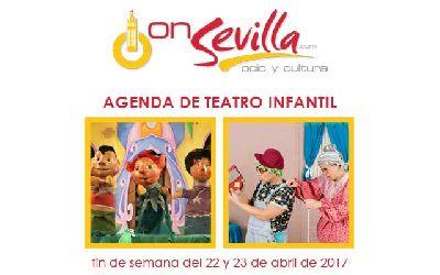 Teatro infantil en Sevilla fin de semana del 22 y 23 de abril 2017
