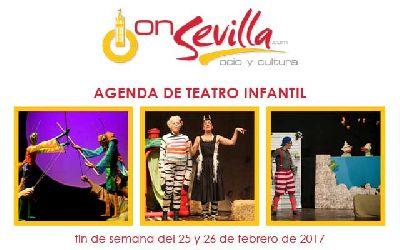Teatro infantil en Sevilla fin de semana del 25 y 26 de febrero 2017