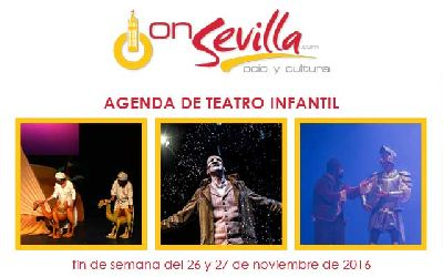 Teatro infantil en Sevilla fin de semana del 26 y 27 de noviembre 2016