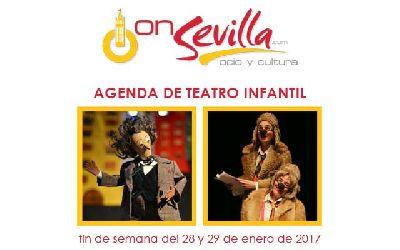 Teatro infantil en Sevilla fin de semana del 28 y 29 de enero 2017