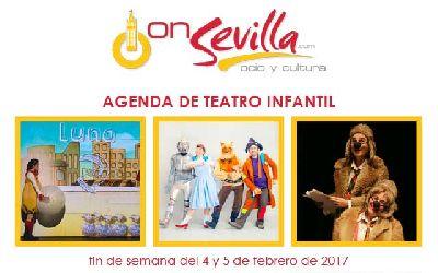 Teatro infantil en Sevilla fin de semana del 4 y 5 de febrero 2017