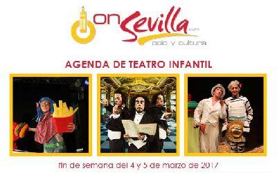Teatro infantil en Sevilla fin de semana del 4 y 5 de marzo 2017