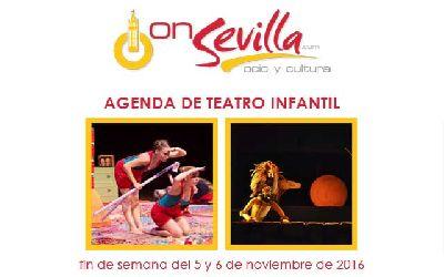 Teatro infantil en Sevilla fin de semana del 5 y 6 de noviembre 2016