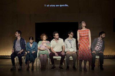 Foto promocional de la obra Las canciones de Pablo Messiez