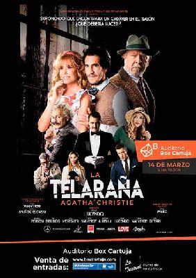 Cartel de La telaraña en Box Cartuja Sevilla 2020