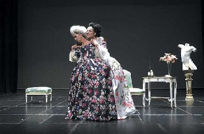 Foto de la obra Madame de Sade de la compañía Teatro Básico