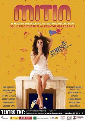Cartel de la duodécima Muestra Internacional de Teatro de Investigación (MITIN) en Sevilla