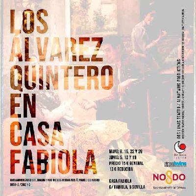 Cartel de Los Álvarez Quintero en Casa Fabiola 2021