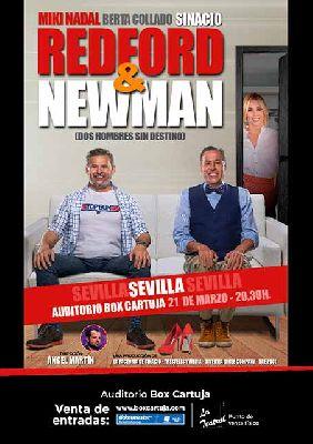Cartel de Redford & Newman en Box Cartuja Sevilla 2020
