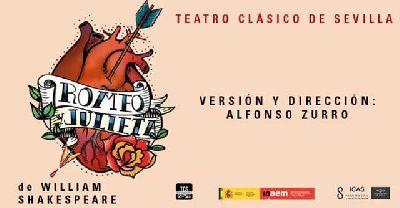 Cartel de la obra Romeo y Julieta de la compañía Teatro Clásico de Sevilla