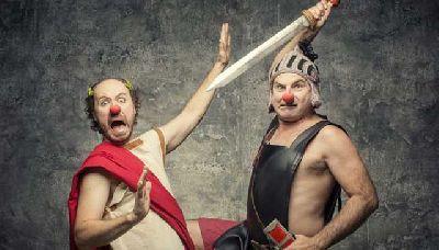 Foto promocional de la obra Una de romanos de Síndrome Clown