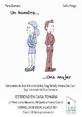 Teatro: Un hombre, una mujer en la Casa Tomada de Sevilla