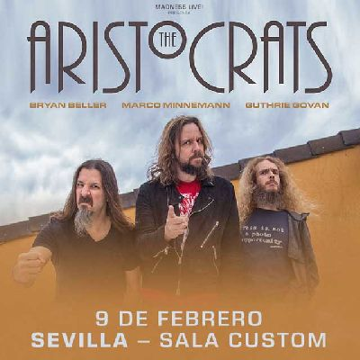 Cartel del concierto de The Aristocrats en Custom Sevilla 2020