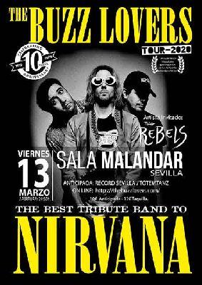 Cartel del concierto de The Buzz Lovers en Malandar Sevilla 2020