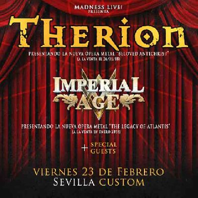 Concierto: Therion e Imperial Age en Custom Sevilla 2018