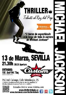 Concierto: Thriller tributo a Michael Jackson en Custom Sevilla