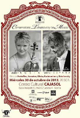 Concierto: Nieto (piano) y Tokareva (violín) en sala Turina Sevilla