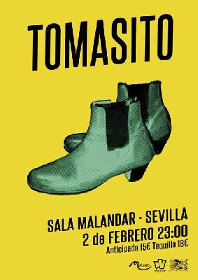 Cartel del concierto de Tomasito en Malandar Sevilla 2019
